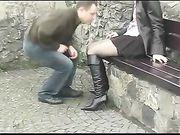 Coppia sesso in un luogo pubblico