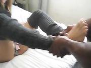 Ninfomane ragazza fa sesso con un amico nero